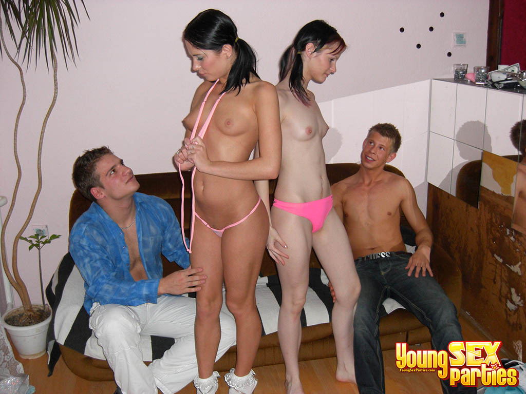 Young sex parties from double date to double fuck 9